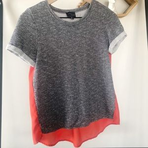 Market & Spruce Heather sheer shirt size small